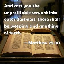 Image result for the outer darkness in the bible