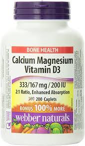 Webber Naturals Krebs Cycle <b>Calcium</b>, <b>Magnesium with Vitamin</b> D3 ...