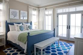 beachy furniture bedroom beach with bedding and pillows blue bed frame cool colors crown molding curtain beachy furniture