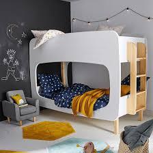 Двухъярусная кровать bubble с основами под <b>матрас</b> белый ...