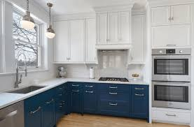 blue kitchen cabinets small painting color ideas:  blue white kitchen