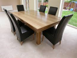 Black Leather Dining Room Chairs Wood Dining Table White Furniture White Chairs Top Decor Dining