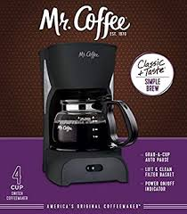 Mr. Coffee Simple Brew Coffee Maker|4 Cup Coffee ... - Amazon.com