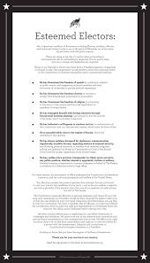 letter to electors esteemedelectors letter to electors
