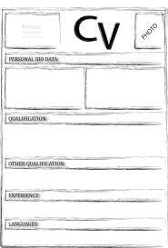 blank cv form doc tk blank cv form