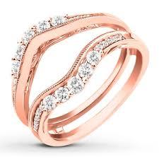 <b>Diamond</b> Enhancer Ring 5/8 ct tw Round-cut <b>14K Rose Gold</b> ...