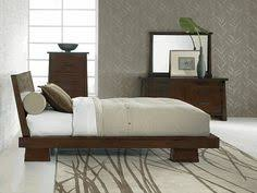 jura asian inspired bedroom collection king 5 pcs bedroom set bed 2 nightstands asian inspired furniture