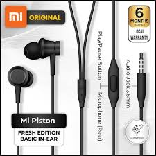<b>Xiaomi Mi Piston</b> Fresh Edition In Ear <b>Headphones Basic</b> Standard ...