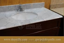 bathroom countertop basins wholesale: italy carrara white marble bathroom vanity top with sink amp faucet pre attached for wholesale and project