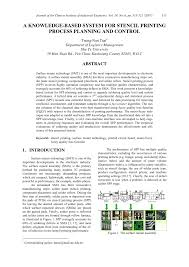 (PDF) A knowledge-based system for stencil <b>printing</b> process ...