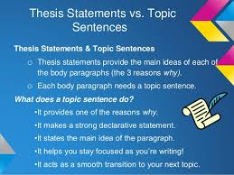 Differences between topic sentence and thesis statement satkom info Differences between topic sentence and thesis     ASB Th  ringen
