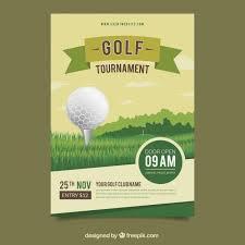 Дизайн плакатов для гольфа Вектор   Скачать
