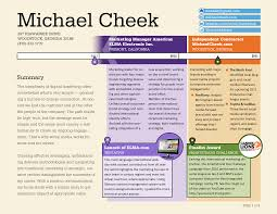 a new resume showing everything in time michael cheek michael cheek timeline resume page one