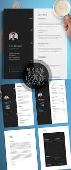 new modern cv resume templates cover letter design vertical resume template