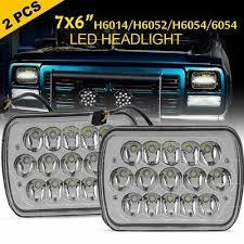 """<b>2PCS Super Bright</b> 7""""x6"""" 45W <b>15-LED</b> Sealed Beam Headlight ..."""