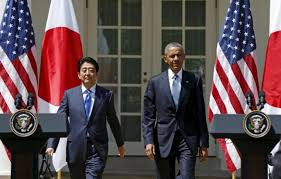 「President Obama with Prime Minister Shinzo Abe of Japan in Washington last year.」の画像検索結果