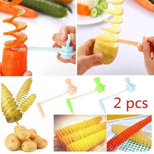 <b>2pcs</b> Carrot <b>Potato</b> Cutter Vegetable Flower Spiral Slicer Spiralizer ...