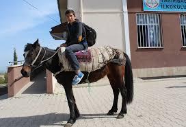 Adıyamanlı öğrenci TEOG kursuna atla gidiyor
