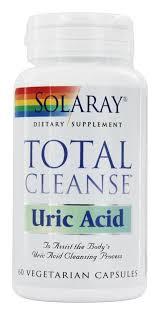 Solaray - <b>Total Cleanse</b>, <b>Uric Acid</b>, 60 Vegetarian Capsules ...