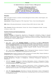 faculty resume format resume format  faculty resume format