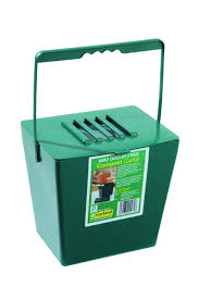 kitchen metal compost bin bucket caddy galvanised