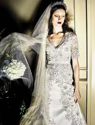 editorial marylou moll in vogue italia sposa by kiki love story immaculate wedding style from the latest issue of vogue italia why be a princess when you can be a queen