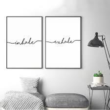 nordic minimalist black white canvas