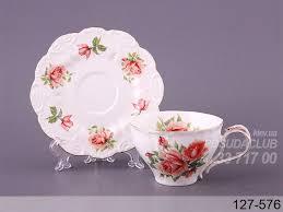 <b>Чашка с блюдцем</b> чайная роза 250мл 2пр 127-576 | Блюдце ...
