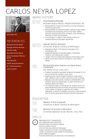 housekeeping manager resume samples sample resume for housekeeping supervisor