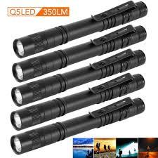 5PCS <b>Cree</b> XPE-R3 <b>LED</b> Flashlight Clip Mini Light <b>Penlight Pen</b> ...