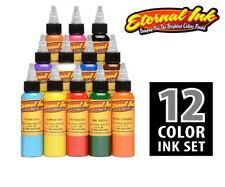 ETERNAL Tattoo Inks 12 <b>Colors</b> Sample Set Basic Authentic 1 oz <b>30</b> ...