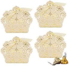VGOODALL 100pcs Wedding Party Favor Boxes,Lace ... - Amazon.com
