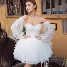 <b>Smileven</b> Short <b>Wedding</b> Dress 2019 Appliques <b>Lace</b> Top Bride ...