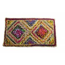 Handscart Handcrafted Chindi Jute <b>Round</b> Colorful Natural Jute ...