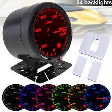 <b>60MM 12V</b> 10 x 100KPa 64 Backlights LED Electrical Car <b>Oil</b> Press ...
