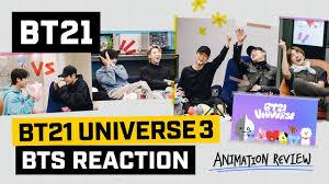 [<b>BT21</b>] <b>BT21</b> UNIVERSE ANIMATION - <b>BTS</b> Reaction - YouTube