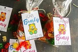 Beary Sweet Printable Valentines - Kleinworth & Co