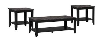 Roma <b>3</b>-<b>Piece Coffee</b> and Two End Tables Package – Black | The ...