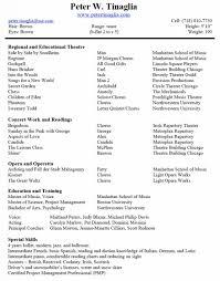 musical theatre resume templatemusician resume template music resume sample music industry resume sample musical theatre resume