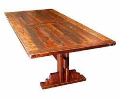 plank dining table long plank barnwood table with single leg trestle base