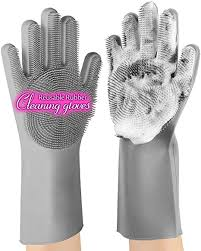 anzoee Reusable Silicone Dishwashing Gloves, Pair ... - Amazon.com