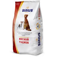 <b>Сухой корм Sirius мясной</b> рацион для собак, 3 кг, артикул: 00 ...