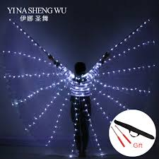 2018 NEW <b>Women Belly Dance Props</b> 360 Degrees LED Shining ...
