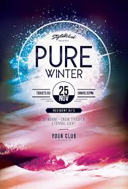 stylewish pure winter flyer template psd file 9
