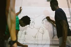 in photos students ldquo not suspects rdquo paint in protest school stories juniors dante st rose 16 left and dante tyson 16