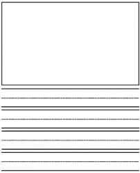 Free Writing Paper With Illustration Box   blank books papers the     lbartman com
