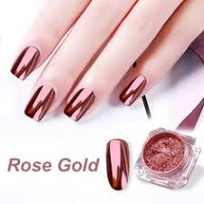 BORN PRETTY Mirror <b>Rose Gold</b> Black Nail Glitter Powder Shining ...