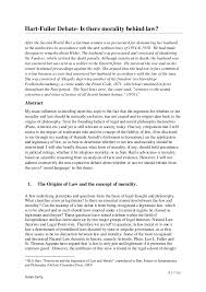 morality essaylaw and morality essay thesis on the hart fuller debate should law and morality be