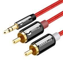 Джек <b>3</b>,5 мм до 2 RCA аудио кабель <b>разветвитель</b> AUX <b>3</b>,5 мм ...