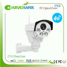 <b>960P 1080P 3G 4G</b> Sim Card Outdoor PTZ Network Camera 5X ...